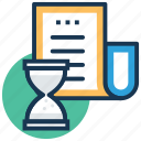 checklist clock, schedule, to do time, todo reminder, work plan icon