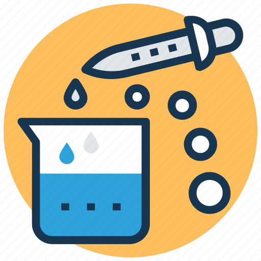 biochemistry, chemical beaker, chemistry lab, lab experiment, scientific research icon