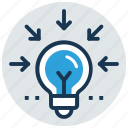 bright idea, concentration, creativity, imagination, inspiration icon