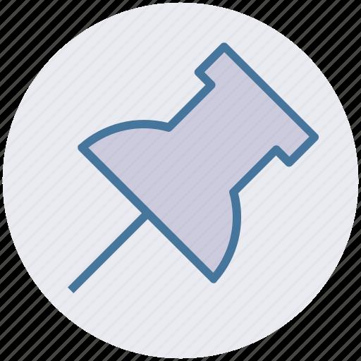 marker, paper pin, pin, push pin, tack, thumbtack icon