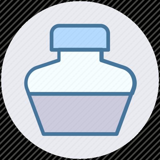 Bottle, ink, ink bottle, ink pot, leaf icon - Download on Iconfinder
