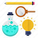 education, formal, learning, science, tools icon