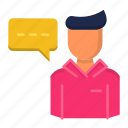 chat, dialog, education, learn, mentee icon
