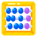 abacus, art, education, elementary, high school, science, university icon