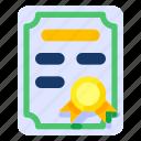 art, certificate, education, elementary, high school, science, university icon