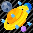 art, education, elementary, high school, planets, science, university icon