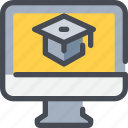 education, knowledge, learning, online, school icon