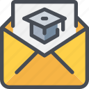 communication, education, invite, letter, mail, message icon