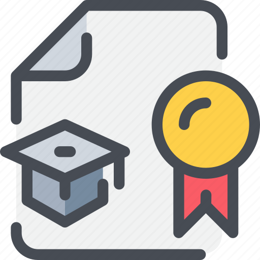 certificate, degree, diploma, education, knowledge icon