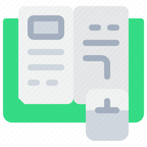 book, e, education, knowledge, learning, school, study icon