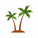 ecology, flower, nature, palm, plant, tree icon