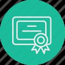 certificate, education, literature, school, university icon
