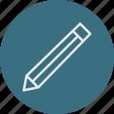education, literature, pencil, school, university icon