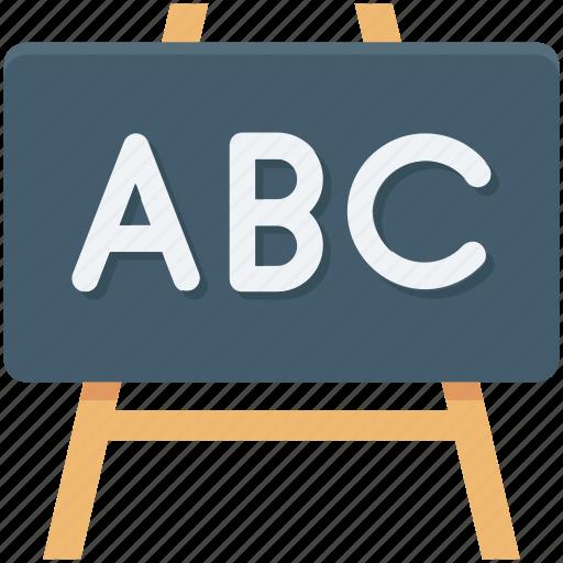blackboard, chalk board, easel, presentation board, writing board icon