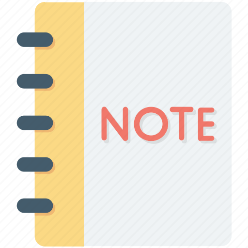 jotter, notepad, scratch pad, stationery, writing pad icon
