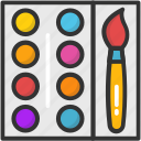 art, artist, canvas, paint palette, painting icon