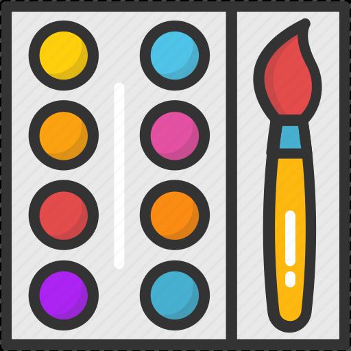 art, artist, canvas, paint palette, painting icon