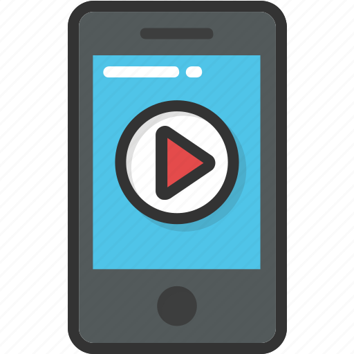 media, mobile, play, video, video player icon