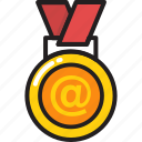 achievement, first place, medal, prize, rank icon
