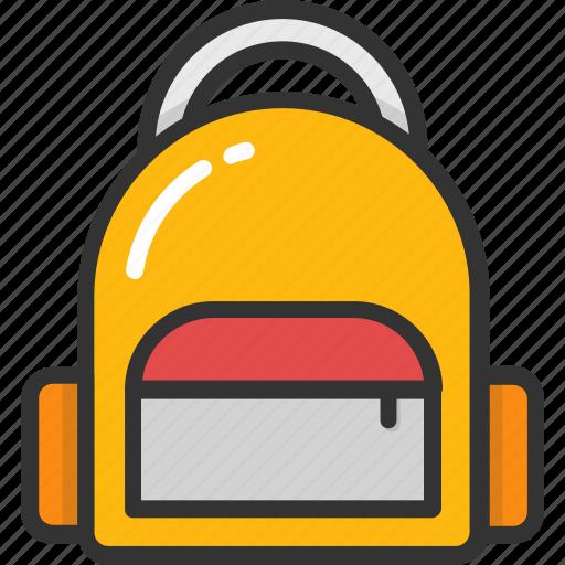 backpack, bag, books, rucksack, school bag icon
