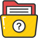 data, file, folder, help, question icon