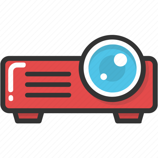cinema, electronics, movie projector, multimedia, projector icon