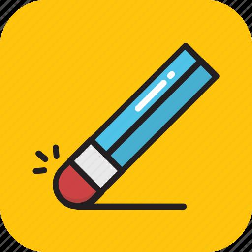 eraser, remove, rubber, school, stationery icon