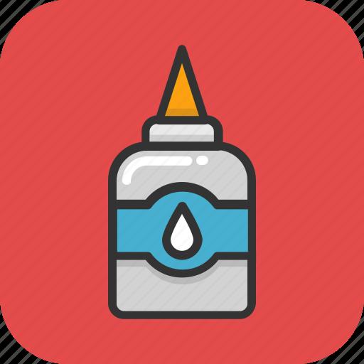 adhesive, glue, glue bottle, gum bottle, stationery icon