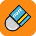eraser, remove, rubber, school, stationery icon