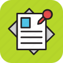attachment, paper, post it notes, reminder, sticky notes icon