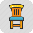 chair, classroom, desk chair, furniture, seat icon