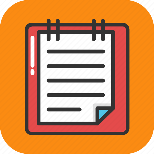 diary, jotter, notebook, notepad, stationery icon