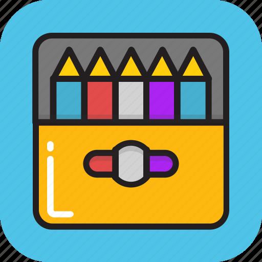 color pencil, crayons, drawing, pastels, pencils icon