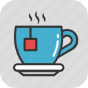 cappuccino, coffee, hot tea, saucer, teacup icon