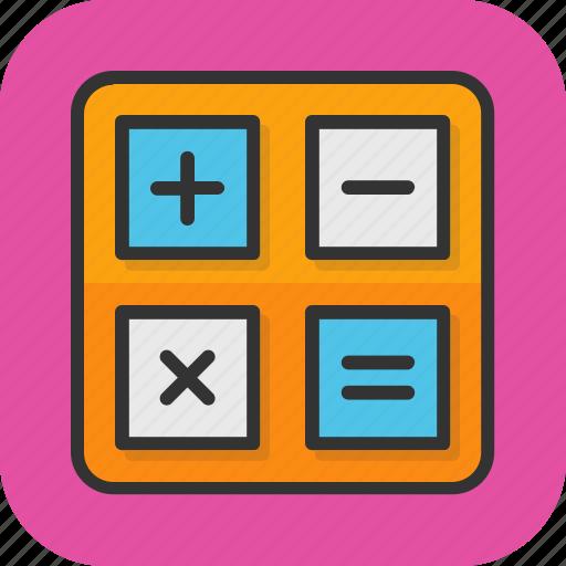 calculation, math symbols, maths, minus, plus icon