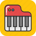 instrument, multimedia, music, piano, piano keyboard icon