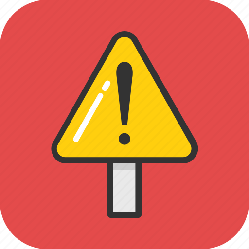 alert, caution, danger, exclamation, warning icon