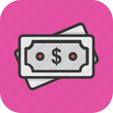 banknote, cash, currency, dollar, money icon