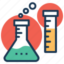 conical flask, laboratory apparatus, laboratory glassware, sample tube, test tube icon