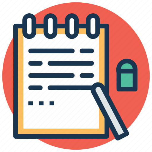 jotter, memo book, notepad, notes, stationery icon