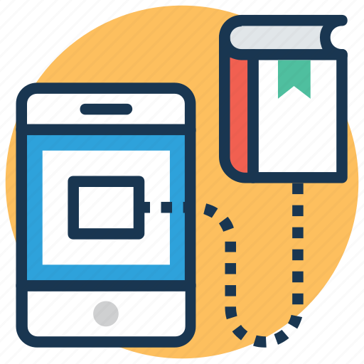 digital library, ebook, elearning, online education, online learning icon