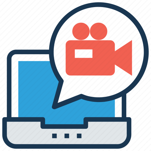 multimedia, online video, video conference, video recording, video tutorial icon