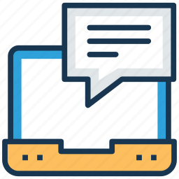 chatting, chit chat, conversation, live chat, online communication icon