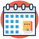 academic calendar, diary, diary planner, schedule, timetable icon