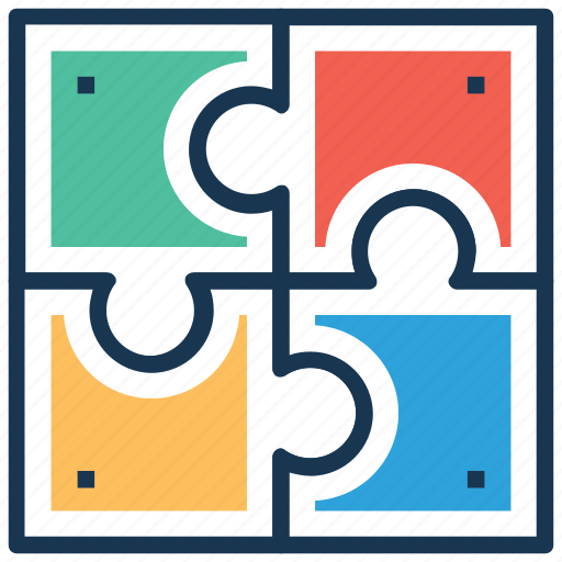 collaborative learning, cooperative learning, jigsaw puzzle, team efforts, togetherness icon