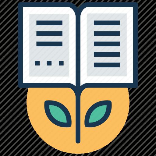 book plant, education development, education progress, educational growth, transformative learning icon