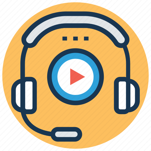 earphones, entertainment, headphone, media player, music listening icon
