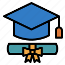 course, degree, education, graduation, study icon