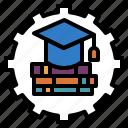 education, graduation, institute, school, system icon