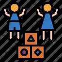 kids, kindergarten, nursery, preschool, school icon